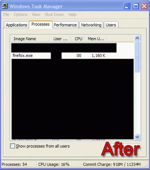 Sesudah Menggunakan FireFox Optimizer